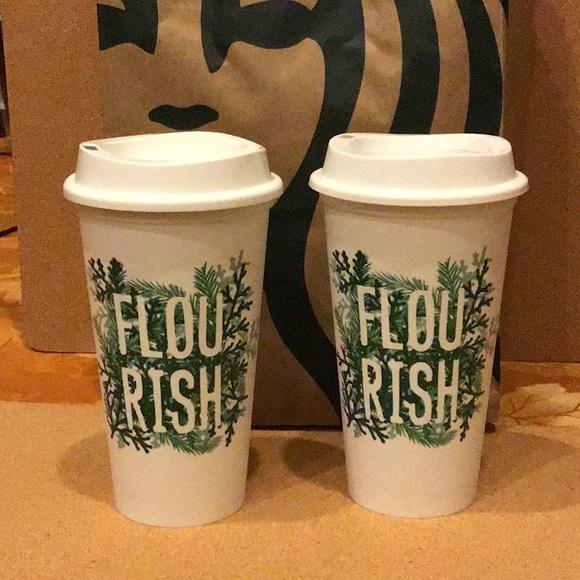 Starbucks Reusable Cups Set of two - FLOURISH
